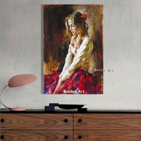 Fashion Art Hand Painted Nude Girl Oil Painting On Canvas Pop Art Modern Wall Pictures For Living Room Home Decoration No Framed
