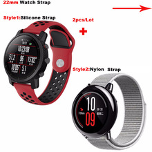 Купить с кэшбэком for Amazfit Smart Watch Correa Band 22mm Bracelet Strap for Huami Amazfit Pace Stratos 2 for Samsung Gear Classic S3 Frontier