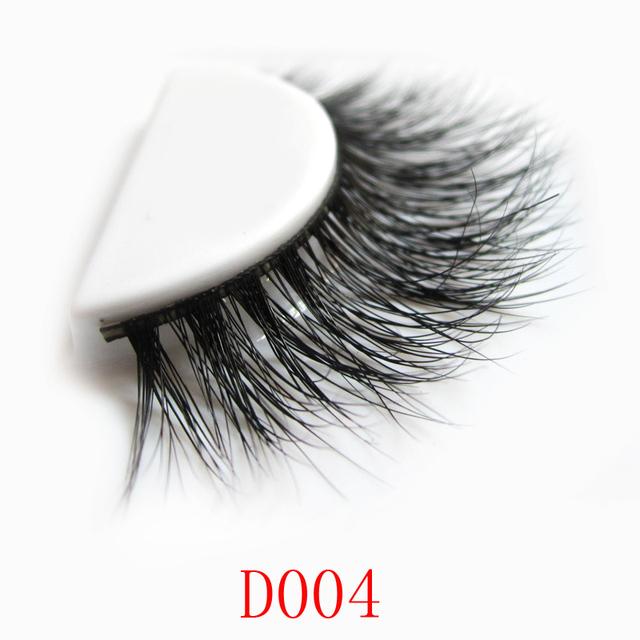 Frete grátis D004 1 pçs/lote 3 Dmink lashes premium100 % real pele de vison cílios falsos