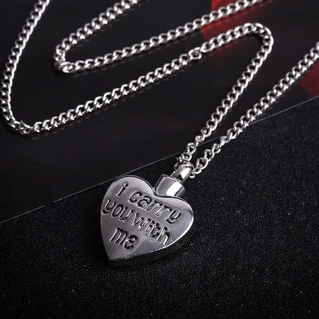 I Carry You with Me Urn Necklace