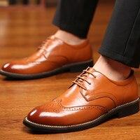 Мужская обувь из натуральной кожи, дизайнерская обувь в стиле Дерби, большие размеры 45-48, Мужская Рабочая обувь на низком каблуке, мужская об...