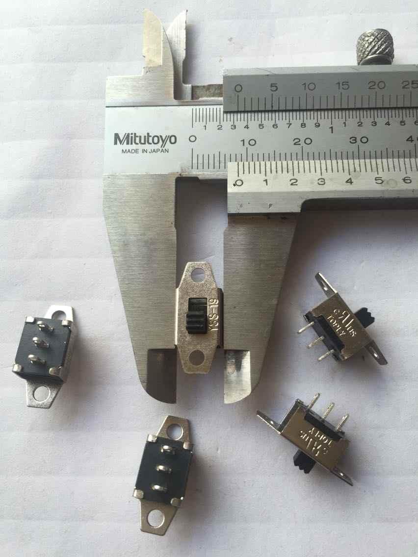 Оригинальный новый 100% скользящий переключатель 3pin 2gear, вертикальный скользящий переключатель, Длина ручки 3 мм 1A250VAC