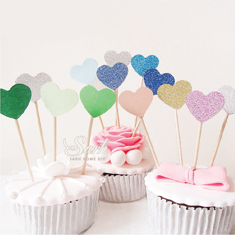 Fruit Shaped Cake Decoration : New Heart shaped cake decorating glitter insert cards ...