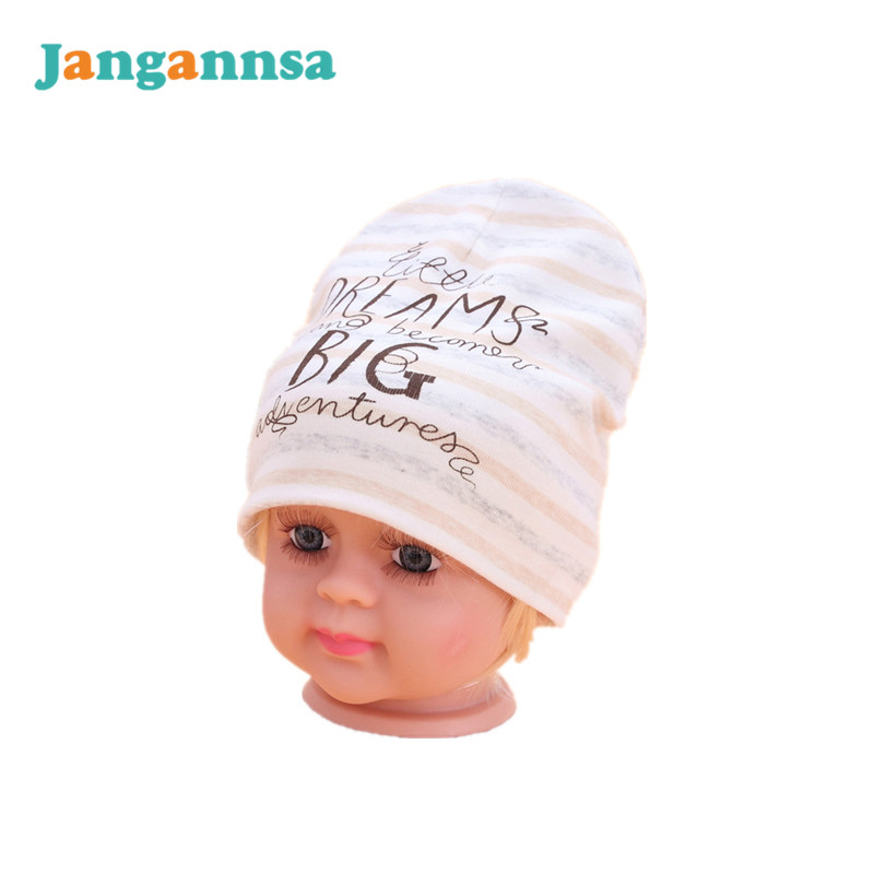 Soft Newborn Baby Hats Cotton Letter Baby Beanies Spring Autumn Girls Boys Tire Hat Striped Cute Baby Hats Baby Boys Clothing