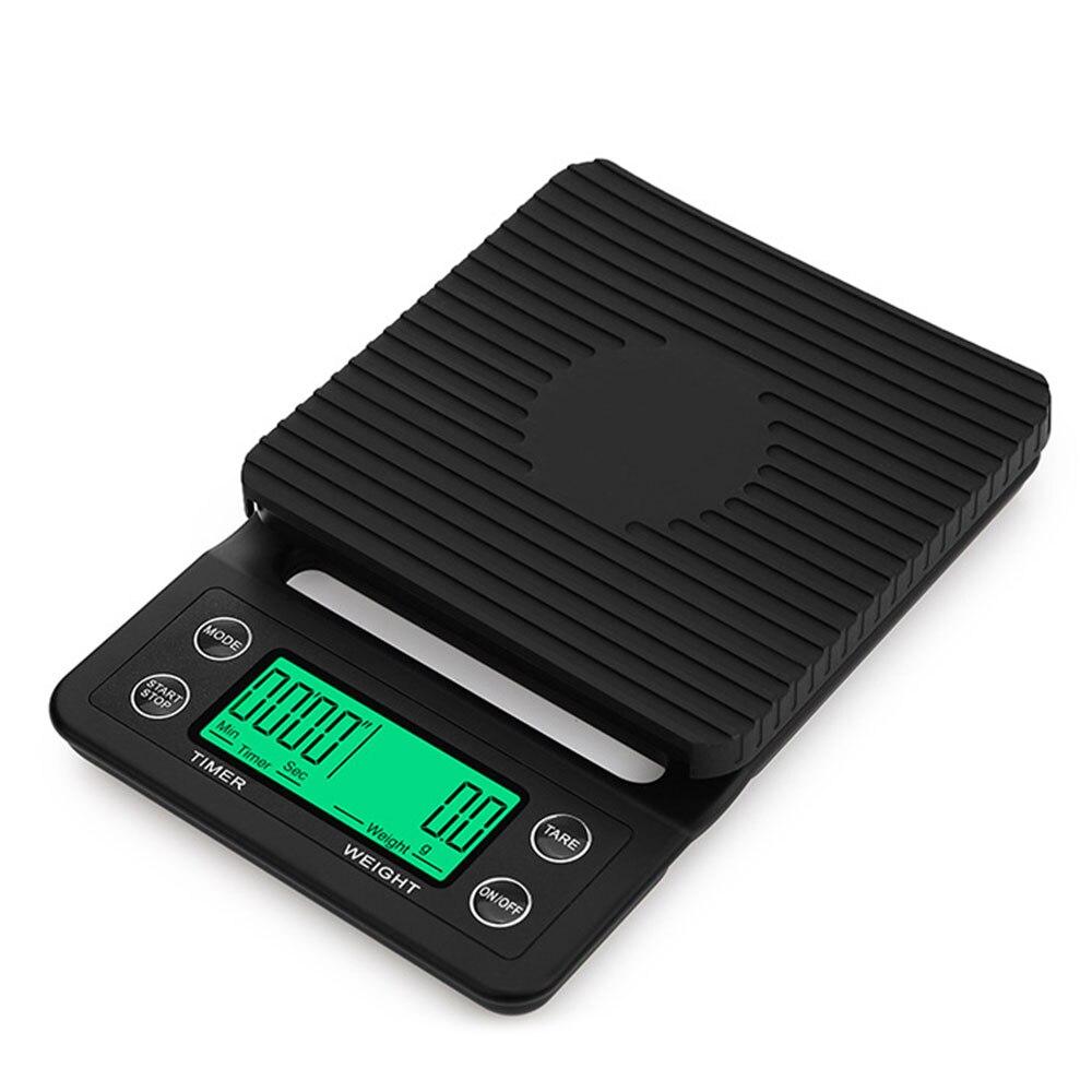 Цифровые весы кофейные кухонные весы устойчивые обеденные Премиум теплоизоляционные подушечки точные - Цвет: black 3kg1