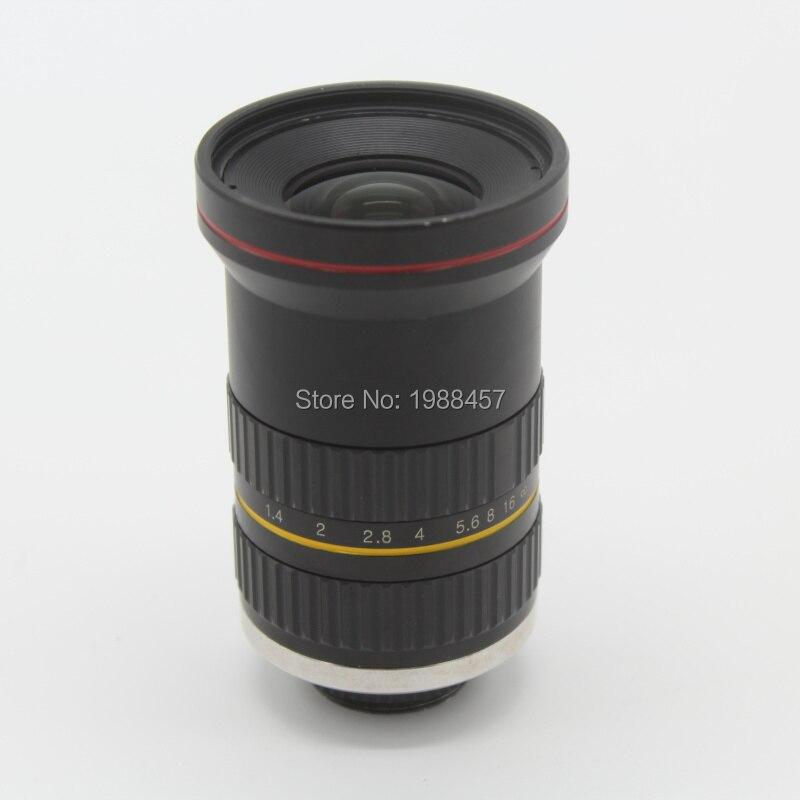 8MP 20 мм HD фиксированный фокус ручной Ирис CS C крепление объектива для камеры видеонаблюдения промышленный микроскоп камеры