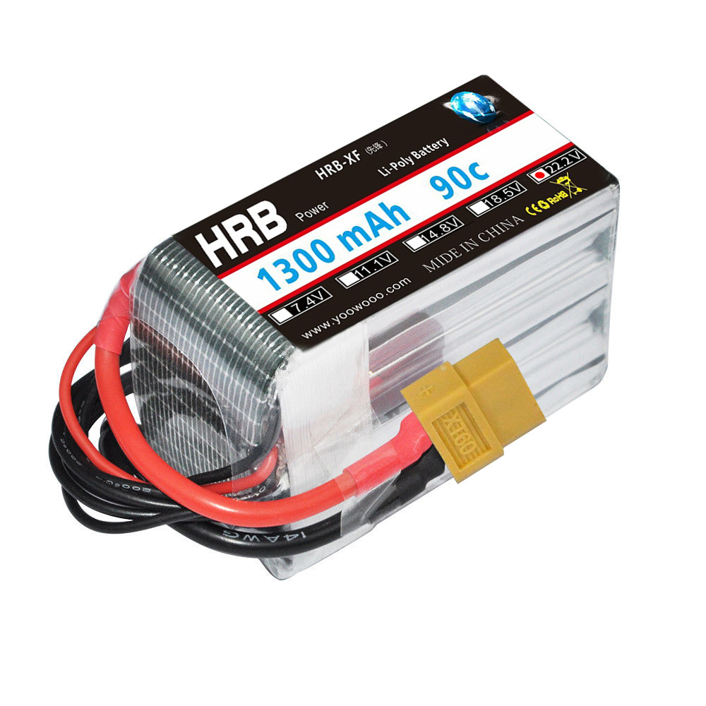 HRB FPV Racing 6S lipo Battery 22.2V 1300mAh 90C 180C Drone AKKU RC Baterry For Helicopters Plate Airplane Car DIY Quadcopter коммутатор 12pcs 90c ac250v 10