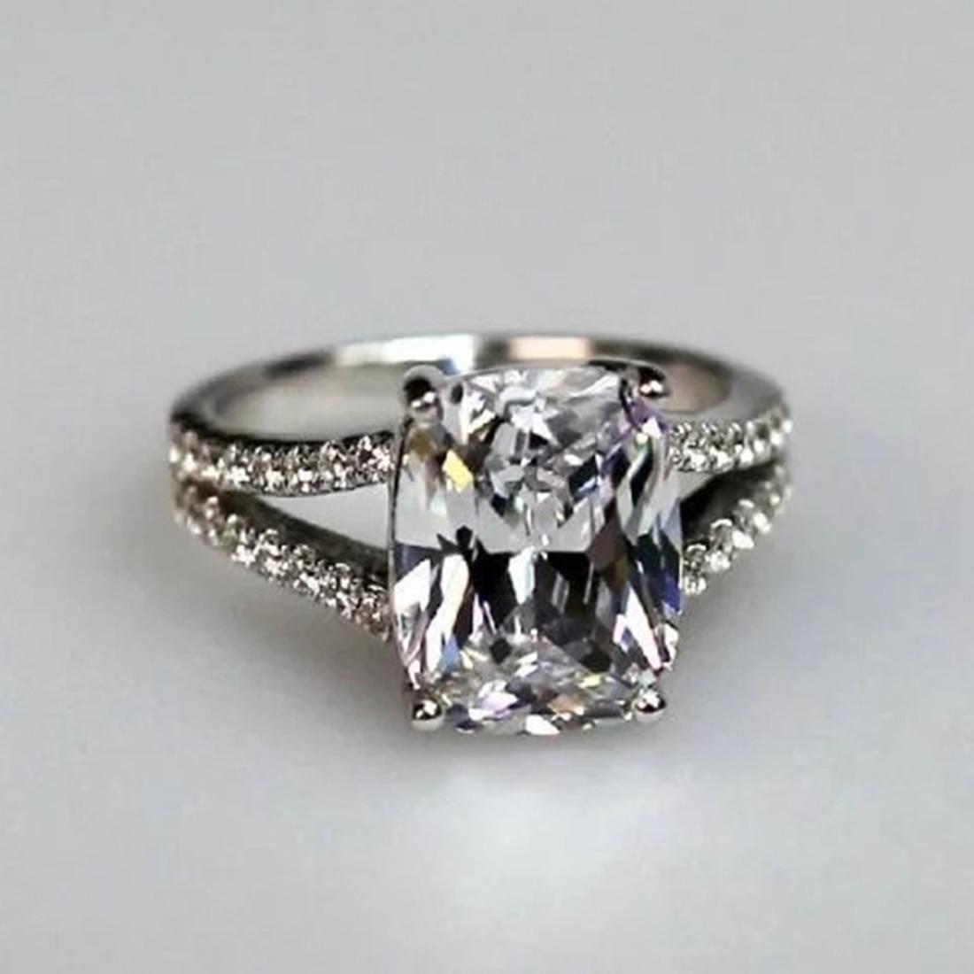 Jiayiqi 2018 Fashion Inlaid Natural Simulated Diamonds CZ Ring Women Engagement Wedding Fine Jewelry ...