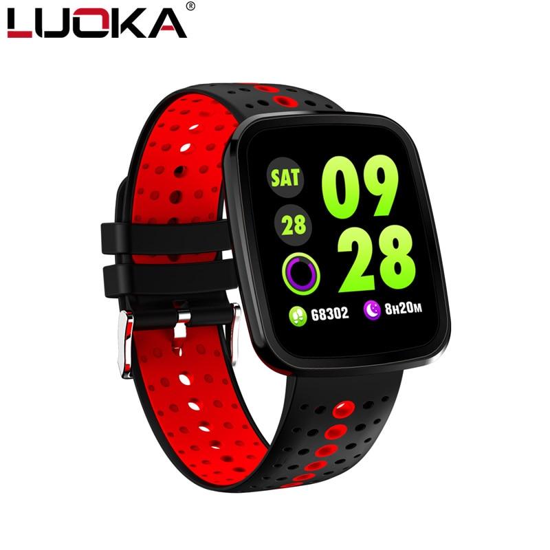 LUOKA pulsera inteligente V6 Pro Color impermeable pulsómetro pulsera medir la presión arterial Fitness tracker banda