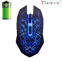 Adroit 2016 New USB 6 Buttons 2400DPI Optical 2.4GHz Wireless Rechargeable Gaming Mouse Gamer JUL27