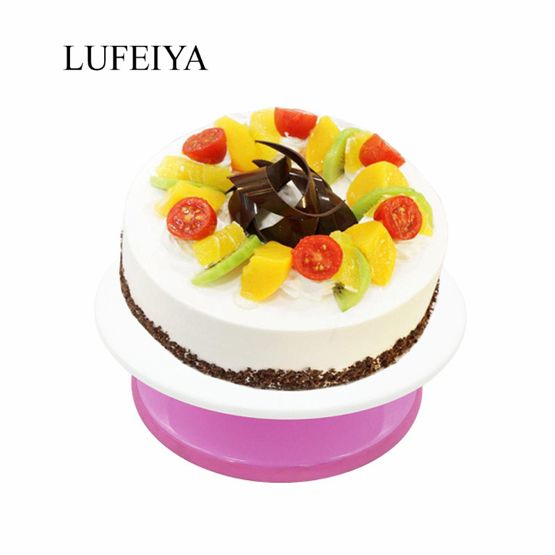 Cake Turntable 11 Rotating Cake Stand Decorating Turntable Pink Cake Decorating Tools