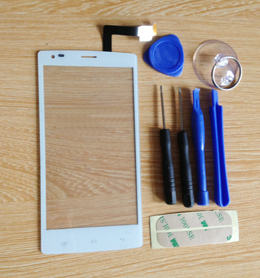 Fly iq4505 Capacitive Touch screen Digitizer front glass replacement TouchScreen White color + free tools Free Shipping