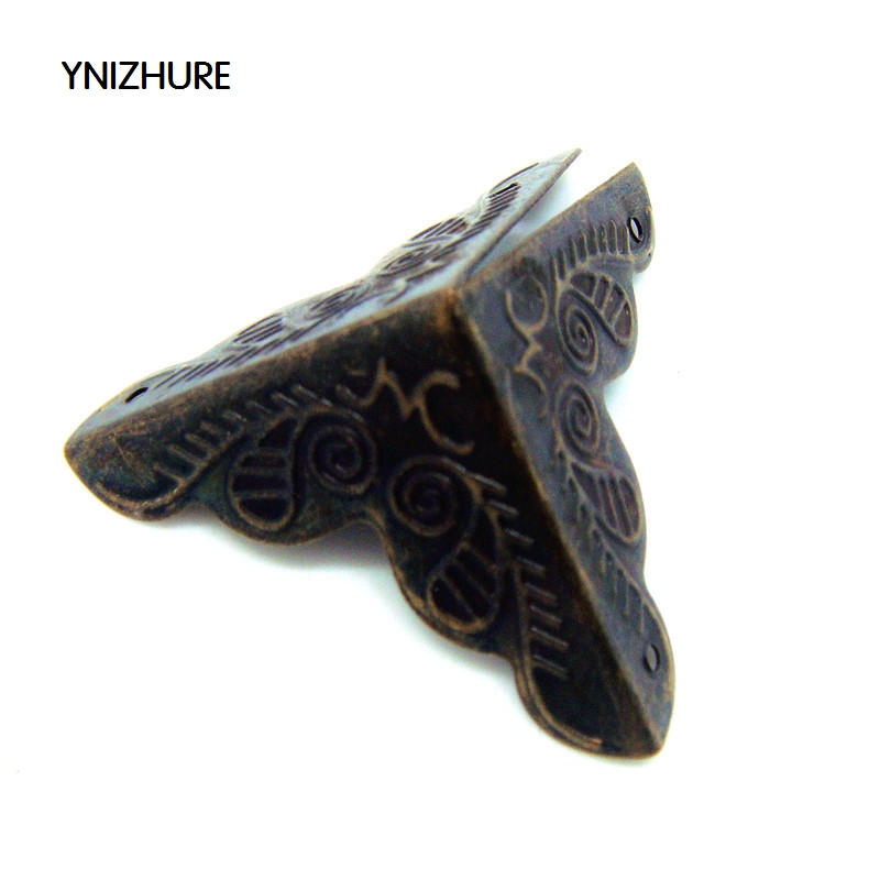 50pcs 25mm Antique Hardware Angle bag packaging Corner Gift Corner four corners trumpet flower wrap angle fittings for furniture lhx p0fh08 1 40 4mmhardware 4pcs 4 color antique angle packaging bag crashproof packer corner gift trumpet flower wrap angle