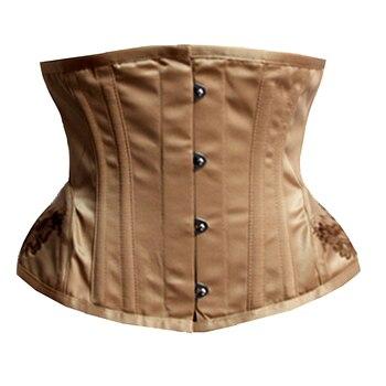 Waist Trainer Corsets Slimming Shaper Belt Short Embroidery Satin Underbust Corset Steel Boned Sexy Bustiers & Corsets Women