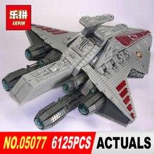 Lepin 05077 6125 UNIDS Star Classic Wars The Ucs ST04 Conjunto República Cruiser Modelo de Bloques de Construcción Ladrillos de Juguetes Educativos de Regalo