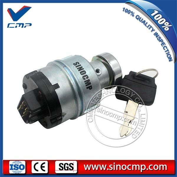 Interruptor de Arranque del Motor de Encendido con 6 Llaves de Cable Terminal 2 Llaves para SK200-3 SK200-5 SK120-5
