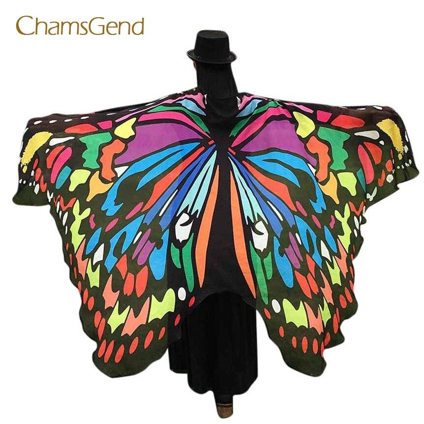 Chamsgend Coolbeener Weichen Stoff Schmetterling Flügel Fee Damen Nymph Pixie Kostüm Zubehör feb22