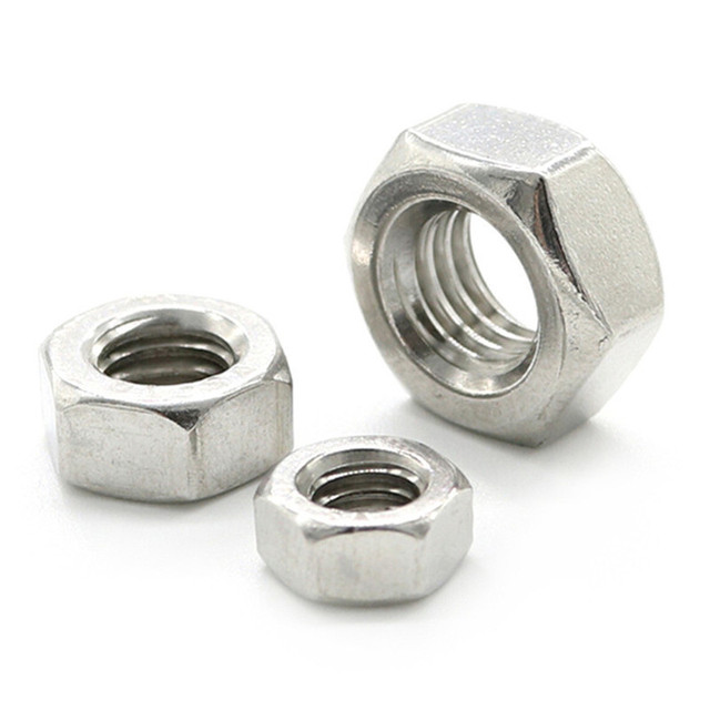 100 Pcs/set 304 Stainless Steel M3 M4 M6 Hex Nut Fasteners High-quality Durable Hexagon Screw Nut Thread Suit For Screws Bolts