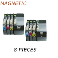 Printer Ink 8 Pieces LC129 LC125 LC129XL Compatible Ink Cartridges For Brother MFC-J6520DW MFC-J6720DW MFC-J6920DW Printers