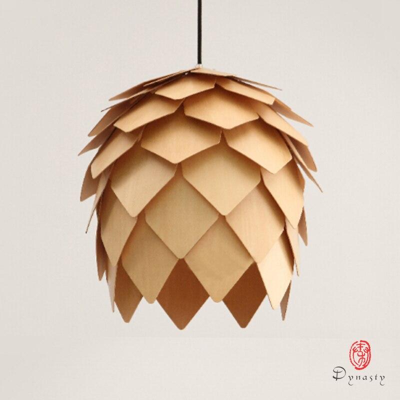 Династии Книги по искусству декоративные моды деревянный подвесной светильник яйцо Oak Форма современный подвесной светильник фойе красоты