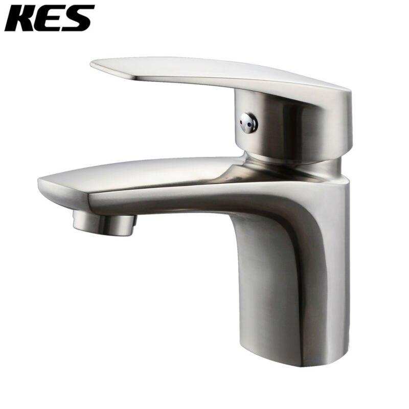 Kes Lead Free Bathroom Sink Faucet Sus 304 Stainless Steel Vanity Cabinet Sink Faucet European