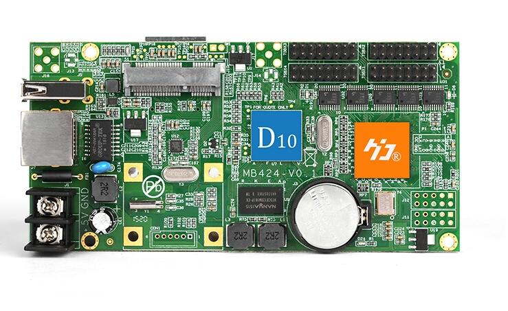 HD-D10 Asynchronous 4*HUB75 WIFI USB Control Card Full Color Display Screen Video Control Card