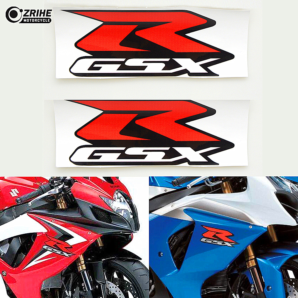 GSXR GSX R 2 pieces Reflective Sticker decals Motorcycle for SUZUKI GSXR600 GSXR750 GSXR ...