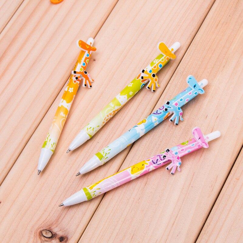 Free shipping wholesale 100pcs lot cute cartoon animal Giraffe pen onta fun ballpoint pen office school