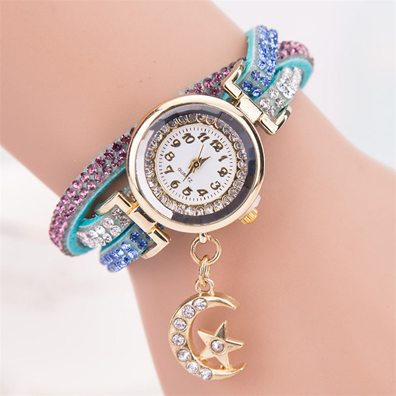 2016 Luxury Crystal Band Wave Bracelet Wrap Watches Women ...