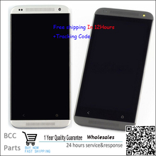 Black or silver color  Original LCD display &touch screen digitizer with frame For HTC desire 601 zara BEST quality, Test OK