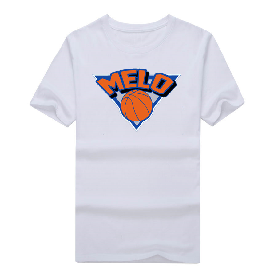 Carmelo Anthony 7 Melo Logo T-shirt 100% cotton short sleeve o-neck T shirt 1019-1 ...