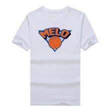 "Carmelo Anthony 7 ""Melo Logo"" T-shirt 100% cotton short sleeve o-neck T shirt 1019-1"