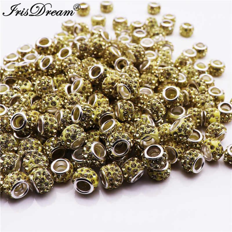 20Pcs Banyak Berlian Imitasi Lucite Batu Longgar Kristal Manik Manik-manik Kaca Cocok untuk Pandora Gelang Batu Beads untuk Perhiasan membuat