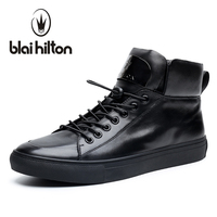 Blaibilton New Autumn Winter High Quality Mens Ankle Boot 100 Luxury Genuine Cow Leather Fashion Casual