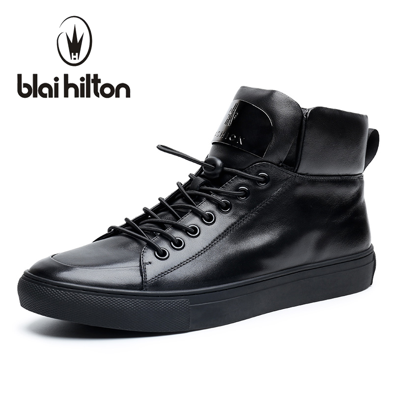 Blaibilton New Autumn Winter High Quality Mens Ankle Boot 100% Luxury Genuine Cow Leather Fashion Casual Western Boots Men Shoes men suede genuine leather boots men vintage ankle boot shoes lace up casual spring autumn mens shoes 2017 new fashion