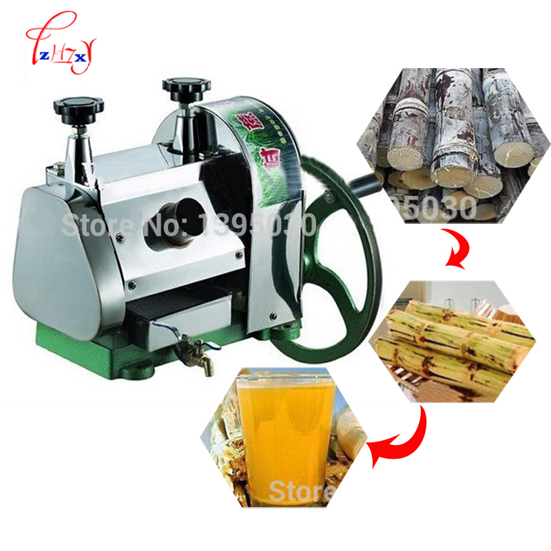 Stainless steel Manual sugarcane juice machine sugar cane machine, cane-juice squeezer, cane crusher, 1 set stainless steel manual movable sugarcane juicer made in china popular commercial use blender machine for sugarcane