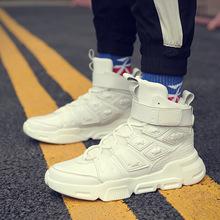 2019 Fashion High Top Casual Sneakers Hip Hop Men Breathable Flats Casual Platform Shoes Walking Tenis Basket Zapatos Hombre