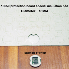 100pcs/lot 18650 lithium battery protection board self-adhesive insulation gasket rubber pad