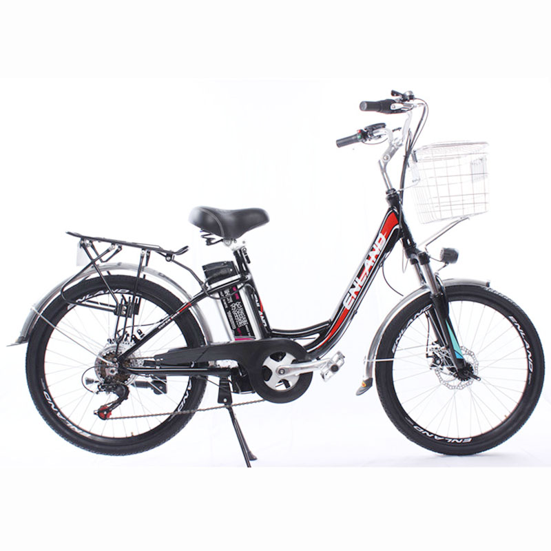 24-inch electric bicycle 48V250W high-speed motor aluminum bicycle front and rear mechanical disc brake bicycle city pas bike