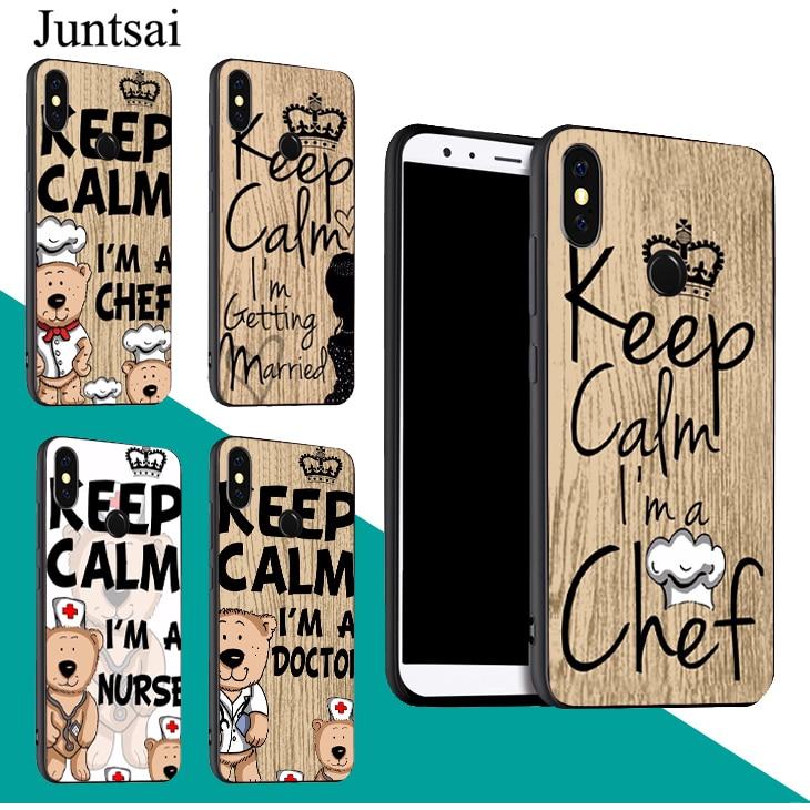 Fitted Cases Juntsai Keep Calm Im Doctor Nurse Chef Tpu Case For Xiaomi Redmi 5 Plus Note 5 5a 6a 6 7 S2 4x Mi F1 9 8 6 6x A2 Mix 2 Max3 Pleasant In After-Taste Cellphones & Telecommunications