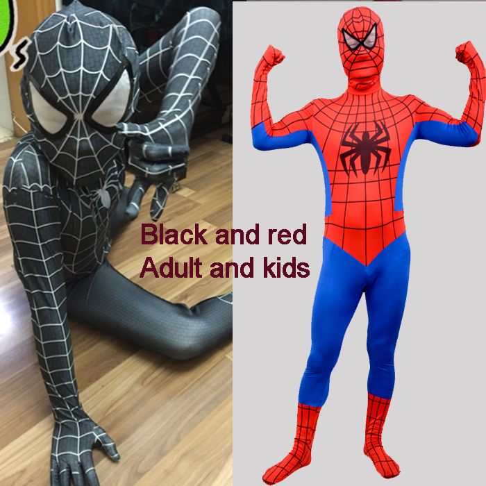 Amazing Spider Man Costume Adult Kids Spandex Adulto 3D Spiderman Costumes Suit Cosplay Clothes ...