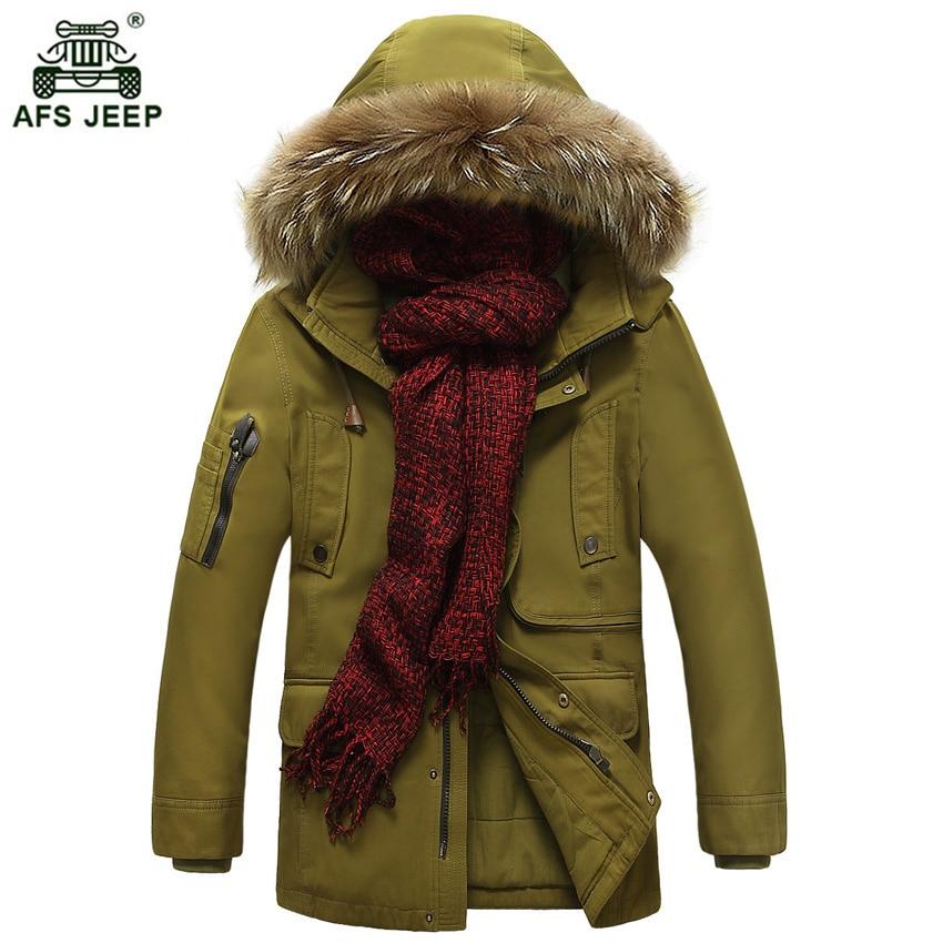 Livraison gratuite 2019 AFS JEEP hiver coton rembourré veste hommes M-5XL à capuche Long hiver chaud mode M-XXXL parka mâle parkas 220wy