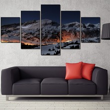 Snowfield Landscape HD Print Wall Art Canvas Painting Modern Home Canvas Wall Art For Living Room Painting Home Decor Picture urban hd print wall art canvas painting modern home canvas wall art for living room painting modern decor home decor picture