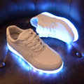 8 Colors Men's Light up LED Shoes Unisex Pu Leather Shoes Flashing Luminous Lovers loafers Whit USB Charging Shoes A099