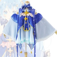 2019 High Quality Snow Miku Hatsune Star Princess Dress Cosplay Costume For Woman Cosplay Woman Lolita Snow Miku Cosplay Costume