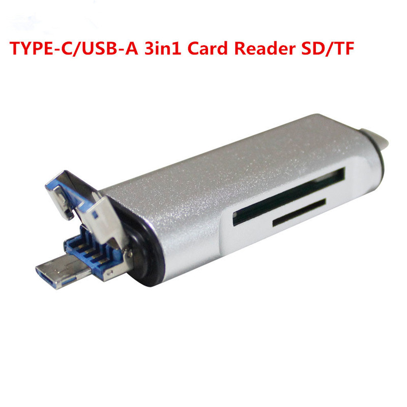 NEW 3in1 Mini SD OTG Usb 3.0 2.0 Card Reader High Speed SD TF Micro SD Card Reader Type C USB C Micro USB Memory Otg Card Reader