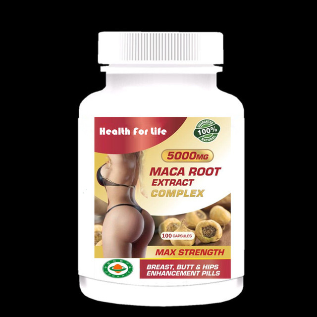 Bigger Breast Butt And Hips Enlargement Maca Root Extract - For Man and Woman