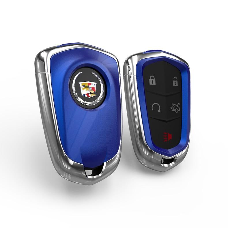 Smart Remote Key Protective Shell For Cadillac Ats L Xts Xt Cts Ct Car Key Cover