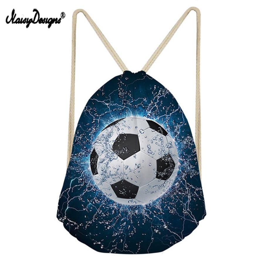 Women's Backpack Storage-Bags Sack No String Soccerly-Print 3D Noisydesign Boy Kid Beach