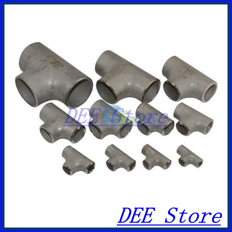 New 60MM Tee 3 way Stainless Steel 304 Butt Weld Pipe Fitting SS304 high quality1 1 2 4 way female cross coupling stainless steel ss 304 thread pipe fittings new